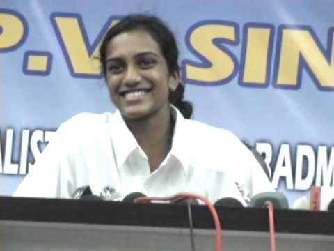 P.V Sindhu With The Press at Manav Rachna Sports Academy Part-1