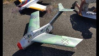 "FOCKE WULF TA-183 ""HUCKEBEIN"" (RAVEN) RC DISPLAY AT RAF TIBENHAM # 2 - 2017"
