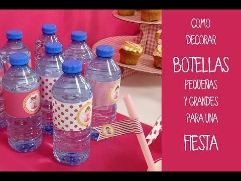 Botellas decoradas para fiestas aprende a decorar - Como decorar una buhardilla ...