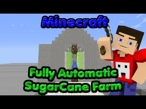 FULLY Automatic Sugarcane Farm Tutorial!!! - (Works in 1.7) Minecraft