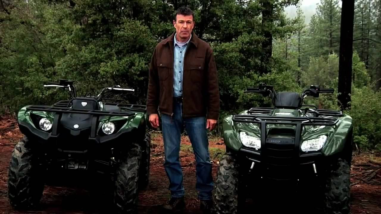 The Yamaha Grizzly 450 Eps Versus Honda Rancher Youtube