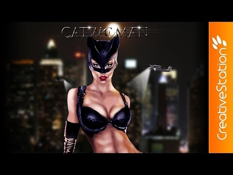 Catwoman - Speed Painting (#Photoshop) | CreativeStation