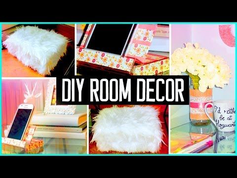 DIY ROOM DECOR! Recycling projects | Cheap & cute ideas! Organization