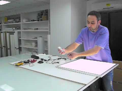 comment installer une dalle led euroshopled youtube. Black Bedroom Furniture Sets. Home Design Ideas
