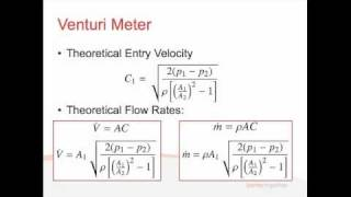 Fluids - Lecture 3.2 - Flow Rate Measurement
