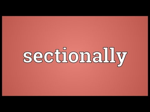 Header of sectionally