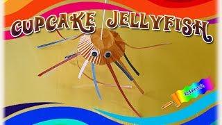 PAPER CUPCAKE JELLYFISH SEA ANIMAL TUTORIAL - PAPER CRAFTS FOR KIDS