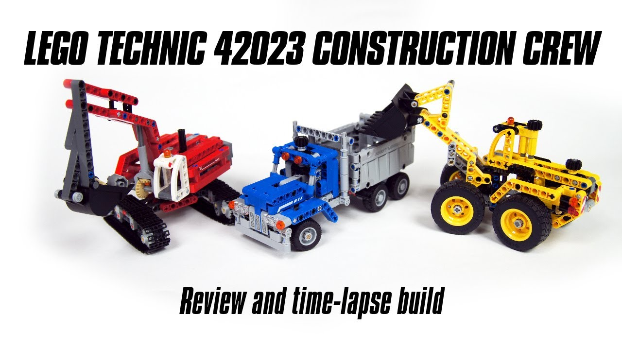Lego technic 42023 construction crew build review youtube - Jeux de construction lego technic ...