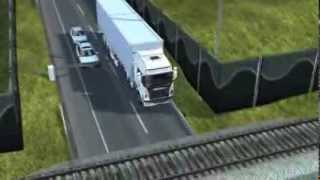 Euro Truck Simulator 2 - Damaged Trucks _ Version 2 - Train Collision, Bridge Collapse