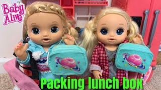 Baby Alive Morning Routine Packing lulu's Lunch