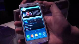 Samsung Galaxy S3 Hands On & Walk Through