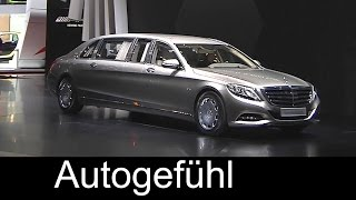 All-new Mercedes-Maybach S600 Pullman reveal by Daimler CEO - Autogefühl
