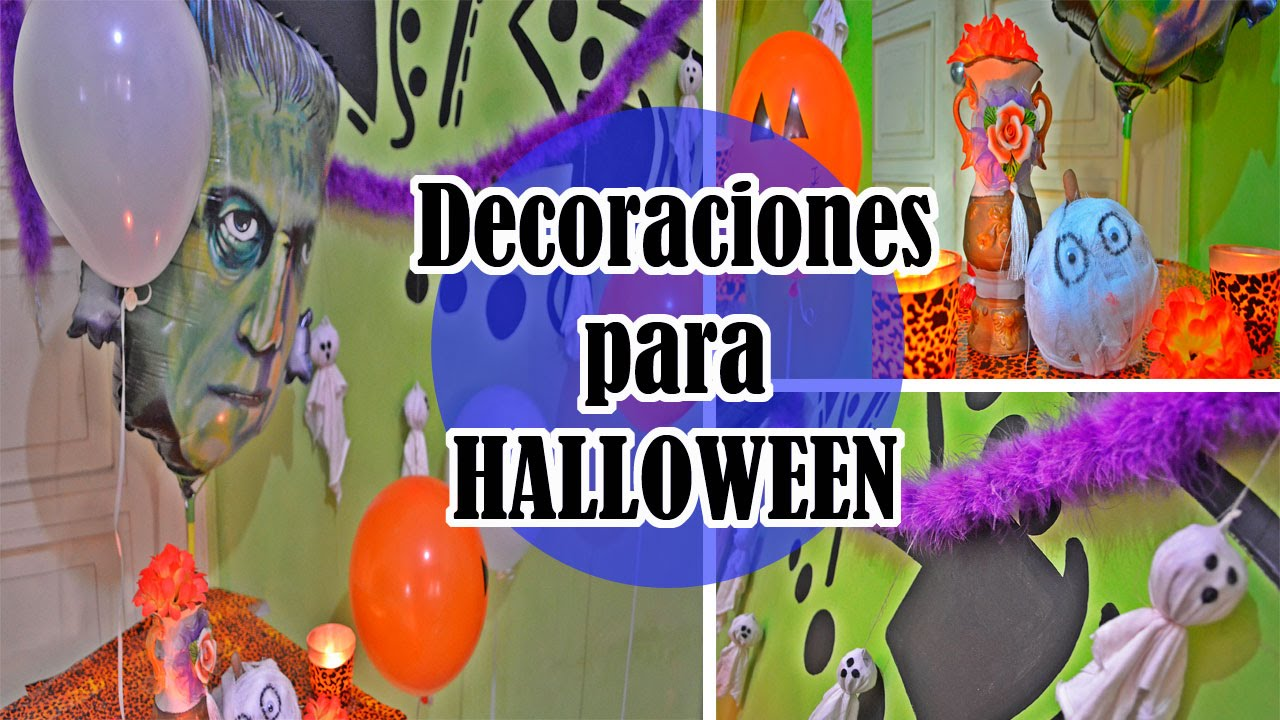 DECORACIÓNES PARA HALLOWEEN  ColorfulJosy - YouTube