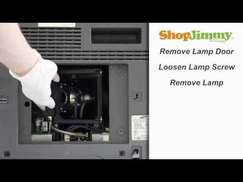 No Picture Problem DIY TV Repair How to Replace Samsung DLP TV Lamp Tutorial