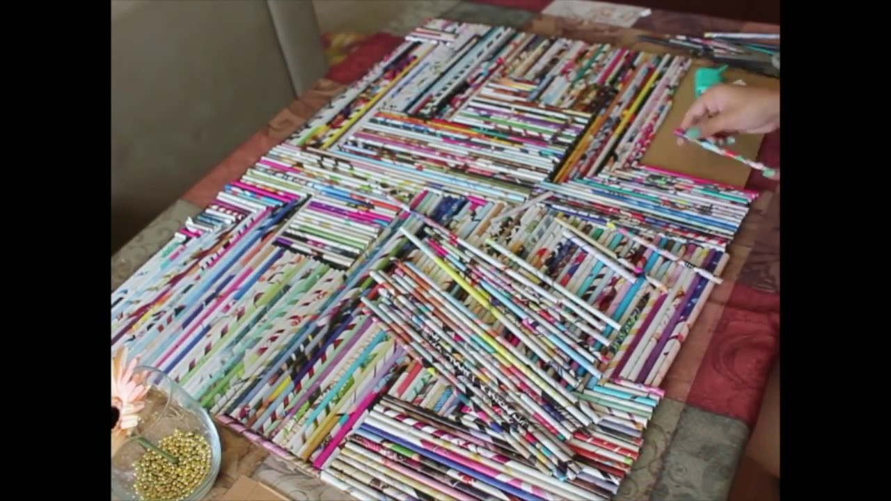 How to create a wall art with old magazines youtube for How to make creative drawings
