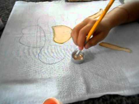 pintura de pano de prato bonecas