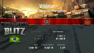 World of Tanks Blitz - Grille 15 -   Game Play (3846 Damage - 3 Kills)