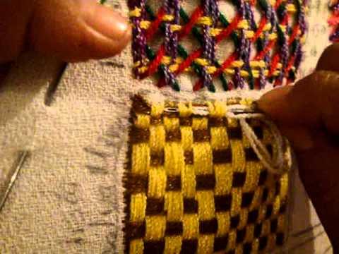 bordado fantasia para jarron, canasta,  hojas  con marimur  numero dos