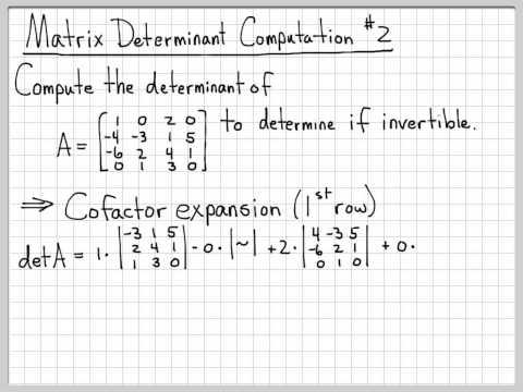 Find inverse matrix 4x4