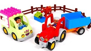 Ice Cream Truck and Tractor Lego Playset for Kids | Learn Colors with Yippee Toys