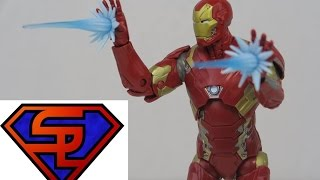 Captain America Civil War Marvel Legends Iron Man Mark XLVI Giant-Man BAF Wave Figure Review