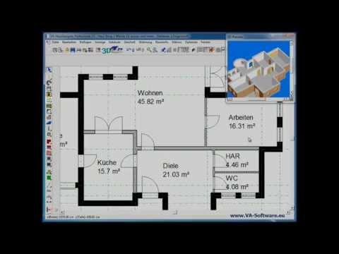 Grundrisse Erstellen & Zeichnen Mit VA HausDesigner Professional 2 Von Www.VA-Software.eu