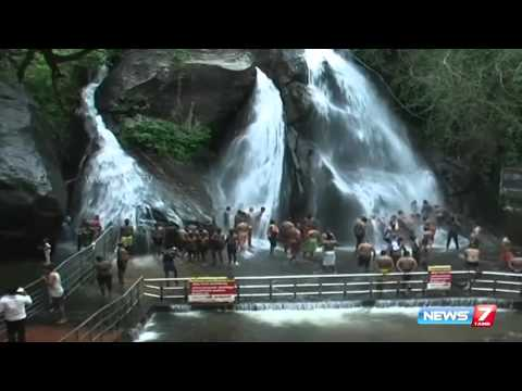 Heavy flow and the heaven of Courtallam   Tamil Nadu   News7 Tamil