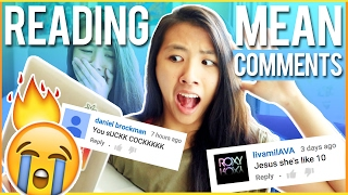 READING MEAN COMMENTS😭 REACTING TO HATE COMMENTS 2017🔥 | Katie Tracy