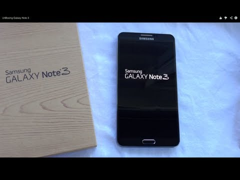 Samsung Galaxy Note 3 (Jet Black) UnBoxing