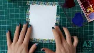 Обзор: акварель и дистресс-чернила+2 открытки (Comparison: Watercolour vs Distress Inks+2 Cards)