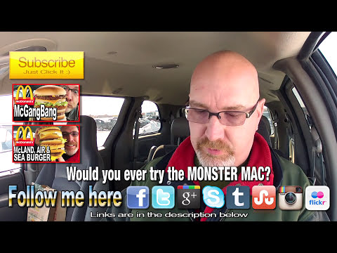 McDonald's ★Secret Menu Item★ MONSTER MAC Challenge