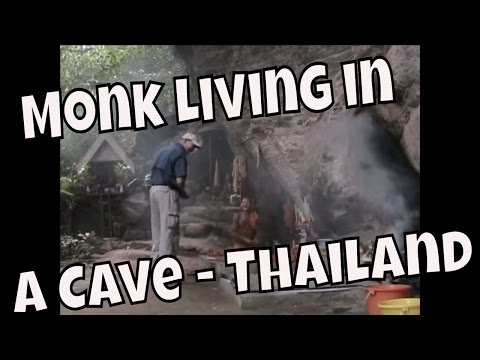 Buddhist Energy -  Monk Living in a Cave in Thailand