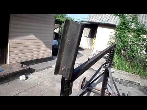 Дровокол механический пружинный видео