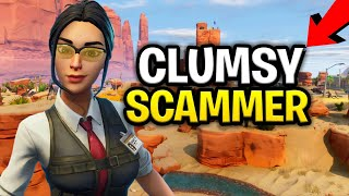 Dumb Clumsy Scammer Scams Himself! (Scammer Get Scammed) Fortnite Save The World