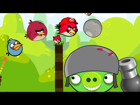Angry Birds Collection 2 - CANNON SHOOT BAD PIGS AND THROW STONE!