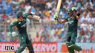 IND v SA 5th ODI – South Africa 438/4 - De Villiers, Du Plessis & De Kock score Tons