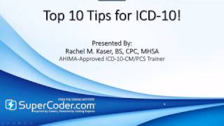 Top 10 Tips for ICD 10!