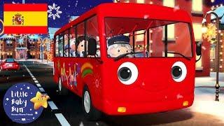 Las Ruedas de Autobús de Navidad   Dibujos Animados   Little Baby Bum en Español
