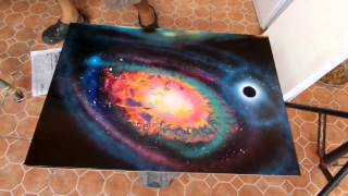 The human spray paint art tutorial
