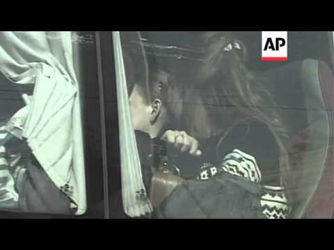 Russian citizens evacuated from Syria cross border into Lebanon