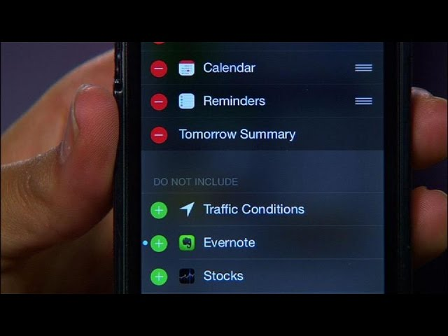 Install and manage widgets in iOS 8
