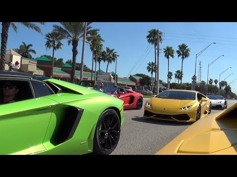 BullFest 2016 Inside Lamborghini Aventador Following 80+Lambos Best Supercar Sounds Adrenaline Rush