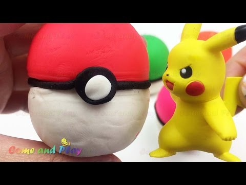 Pokemon GO! Play Doh Pokeball Surprises with Pikachu Peppa Pig Finding Dory Disney Frozen
