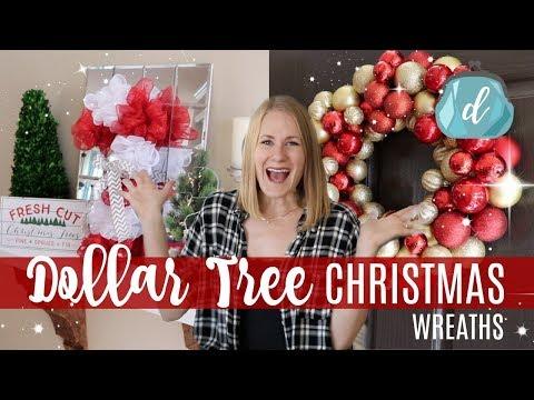 DOLLAR TREE CHRISTMAS DIYS 🎄 Classy & Easy Wreaths 2017!
