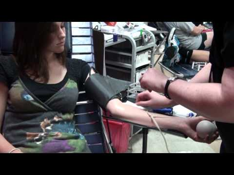 My first time donating blood (Needle shown)