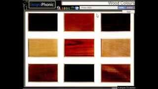 wood colours, birch, cherry, beech, english walnut, pear, lime, rosewood, box ,