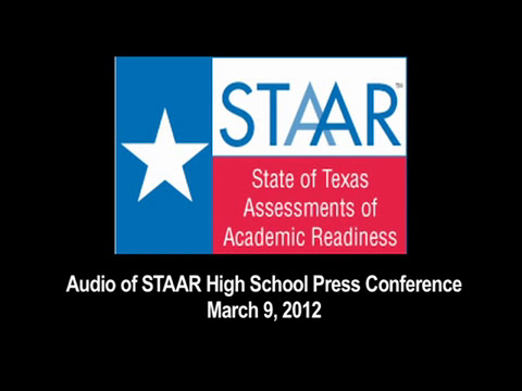 STAAR Press Conference for High School Journalists