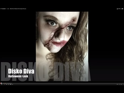 Disko Zombie-Diva Halloween Get ready with Laura