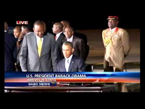 US President Barack Obama's arrival in Kenya