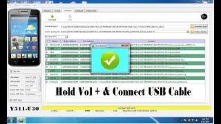 How To Flash Huawei Y511 U30 Mobile SP Flash Tool